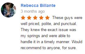 Google My Business Review - Rebbeca Billante