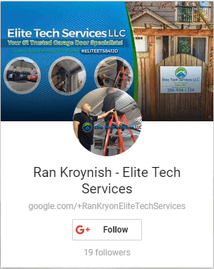 Ran Kroynish Google Plus - Elite Garage Door & Electric Gate Repair Of Seattle