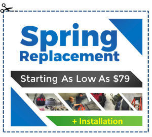 Elite Garage Door Special Offers - Spring Replacment Starting As Low As $79