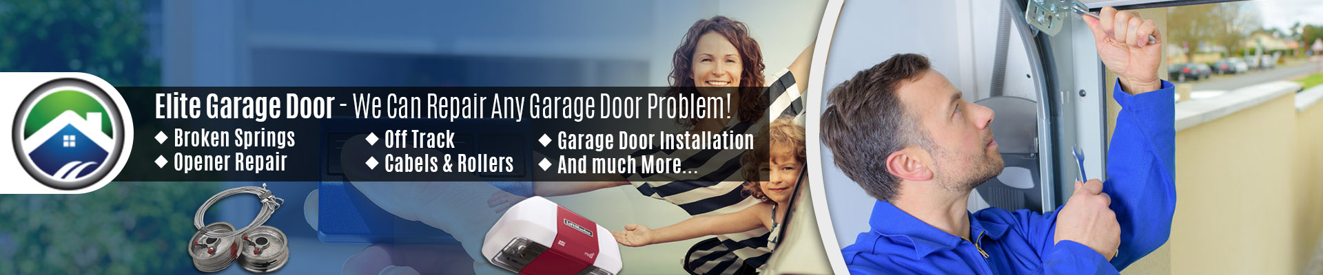 Garage Door Roller Came Out Of Track Repair By The Elite Tech Services, LLC Experts